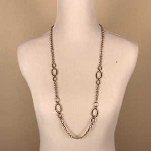Banana Republic Long Link Pale Gold Necklace